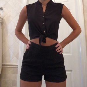 Adorable romper with stomach opening size small